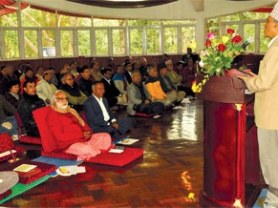 """Article in The Nepali Times by Guna Raj Luitel – The holy economy """"Just Chanting Om is not enough."""" -Swami Ananda Arun"""