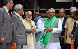 Honorable Chief Minister of Bihar, Shree Nitish Kumarjee at Tapoban, 2 March 2016