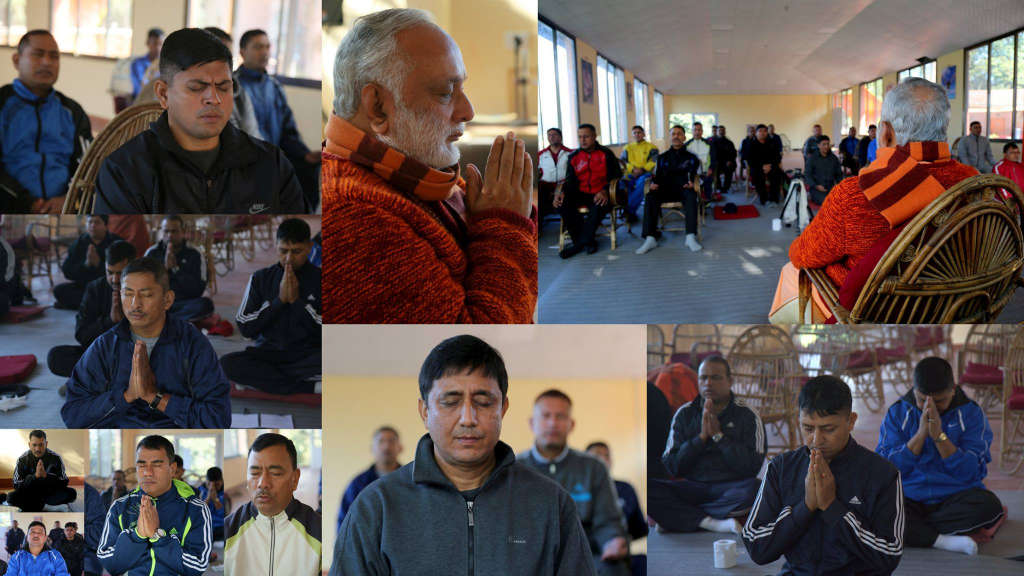 4 Nov, One day workshop for stress free life motivation for high ranking officers of Nepal Police at Osho Tapoban